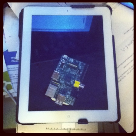 Raspberry Pi on an iPad. #raspberrypi #ipad #linux - from Instagram