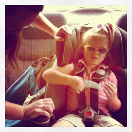 Buckled up. #children