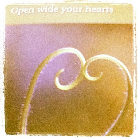 Open wide your hearts. #compassion - from Instagram