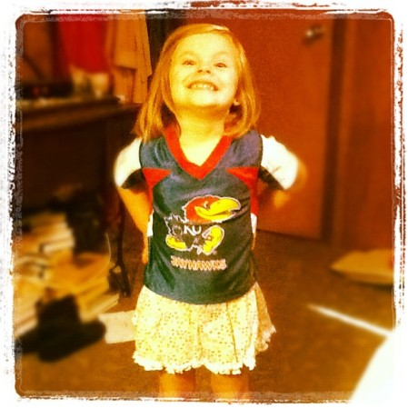 Got the #KU shirt going on! - from Instagram