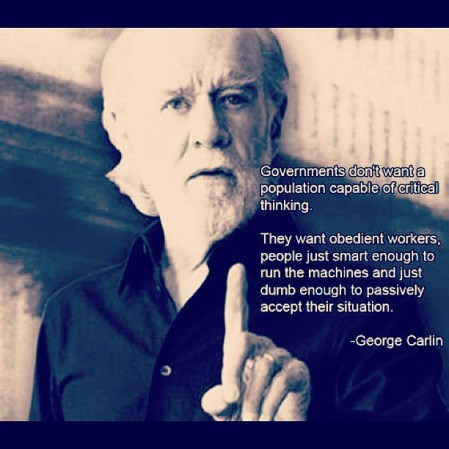 George Carlin on #Government #truth #reality #robertaheinlein #georgecarlin - from Instagram