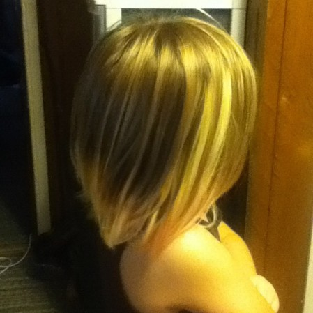 Blond strips Step 1 of the Multi-Colored hair. #selfexpression #children  Instagram