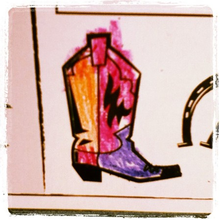 Boot coloring!  Instagram