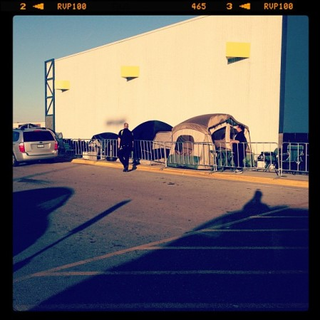 A little itty-bitty line out in front of Best Buy in Topeka  Instagram
