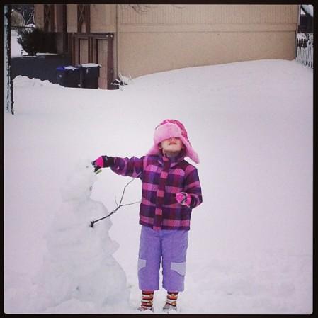 #snow #snowman #snowperson #child #kansas  - Instagram