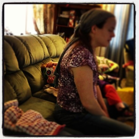 Budding photographer hiding behind mommy #wryt  - Instagram