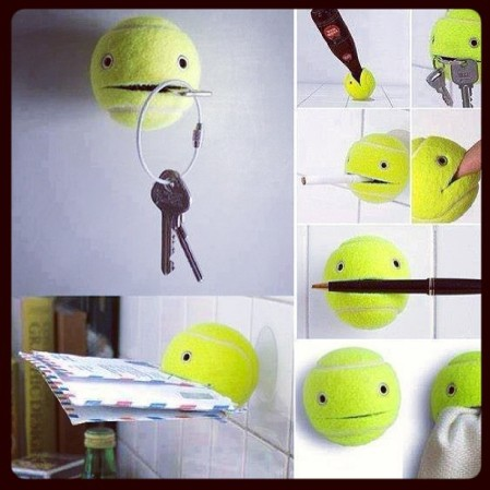 Cool idea for #tennis #ball #diy  - Instagram
