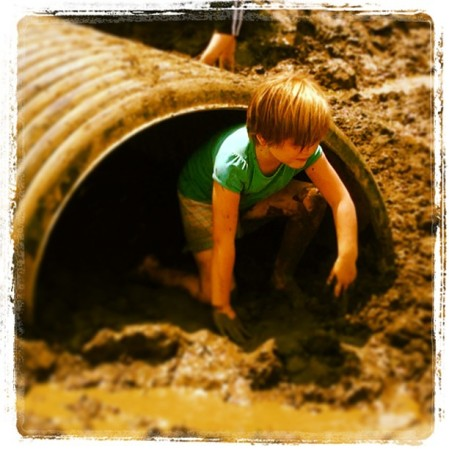 Gretchen Mucking around for Grandma Carol & MS #muckfest #ms #kansascity #child #mud #kansas  - Instagram