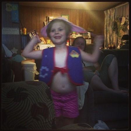 Child playing #dressup #cowgirl #sherrif  - Instagram