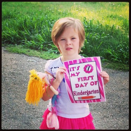 Gretchen's first day #school #kindergarten  - Instagram