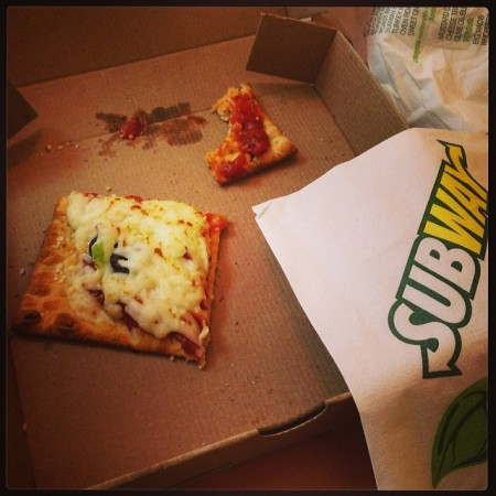 #subway #flatizza really falls #flat #notgood #yucky  - Instagram