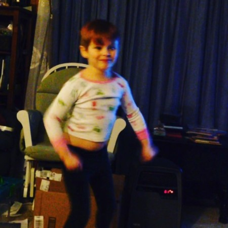 G dancing to music from Cloudy with a Chance of Meatballs 2 #dance  - Instagram