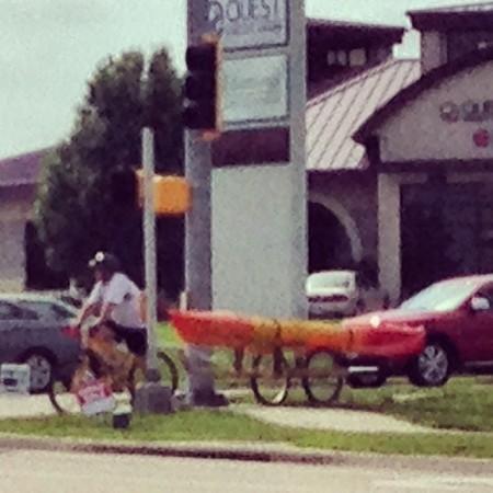 #Dedication #bicycle #kayak  - Instagram