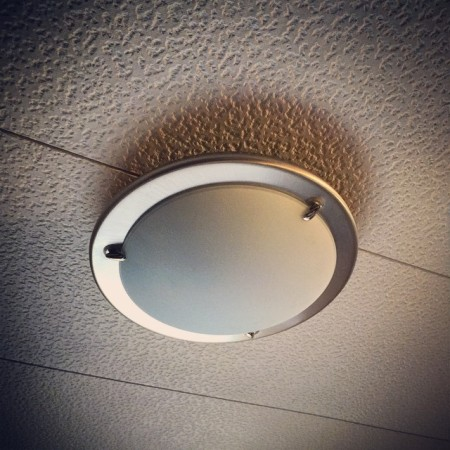 New IKEA light installed. No blood only a bit of sweat.  - Instagram